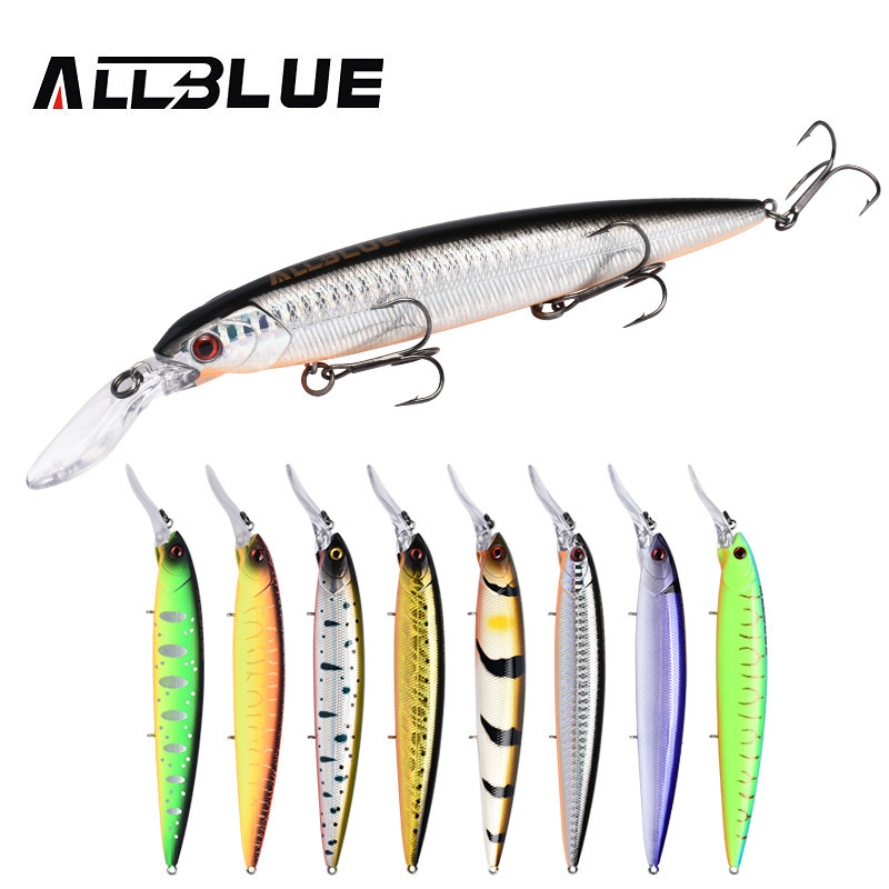 5pcs//set Top Water Minnow Fishing Lures Crank Baits Floating Rattles 8cm 5g New