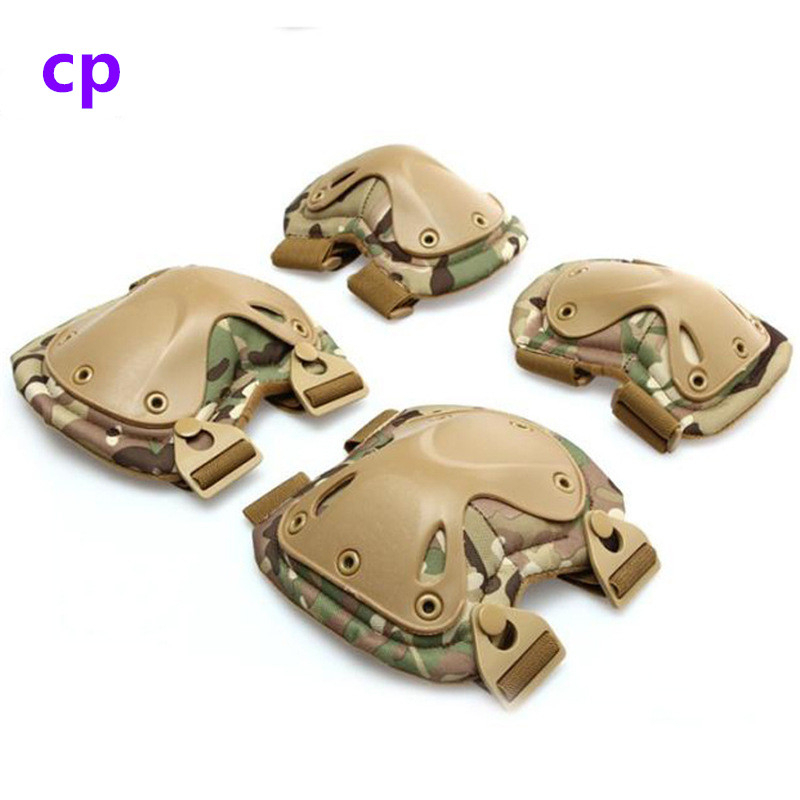 Hunting Shooting CS Elbow/&Knee Pad Tactical Military Compact Protective Gear Set