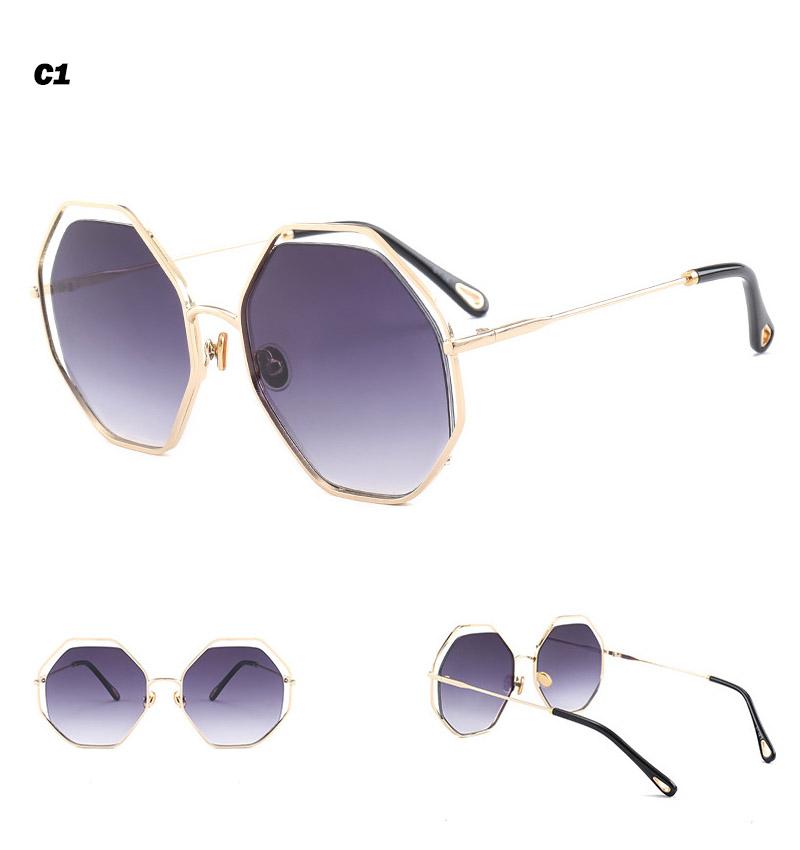 2018 News Goggle Rimless Sunglasses (8)