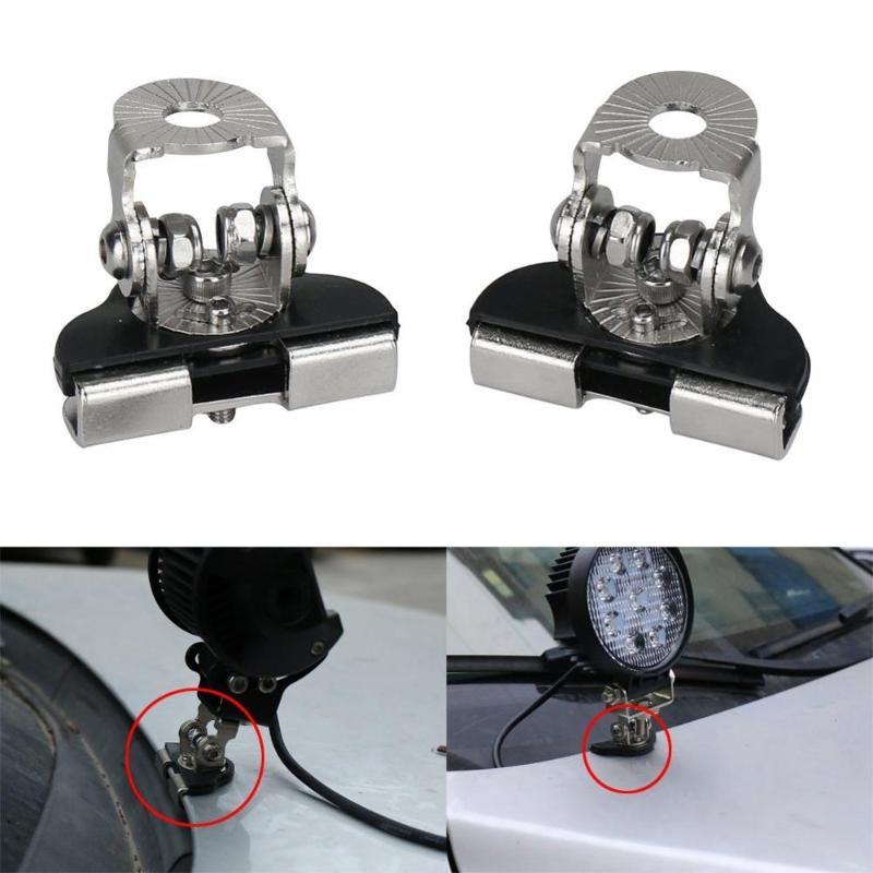 1 par 1-3 coche de aluminio llev/ó la abrazadera ligera del soporte de montaje del sostenedor de la barra de la barra campo a trav/és 1 pulgada