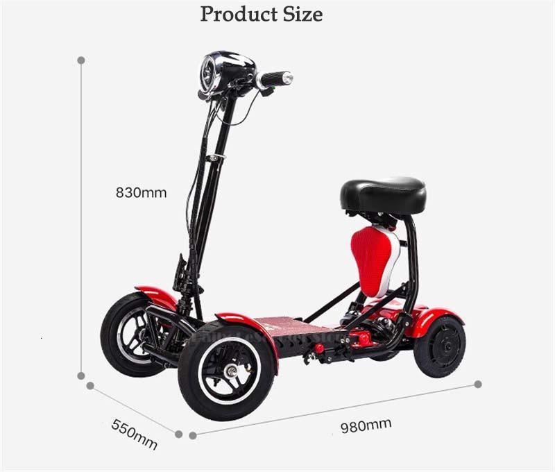 Daibot Four Wheel Electric Skateboard Portable Electric Scooters 10 Inch 36V Foldable Electric Scooter For DisabledElderly (2)