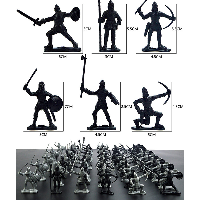 Middle Ages Military Soldier Toys Mini Classic Soldier Weapons For Model Sandbox Figures Toys For Children Gifts Y190604