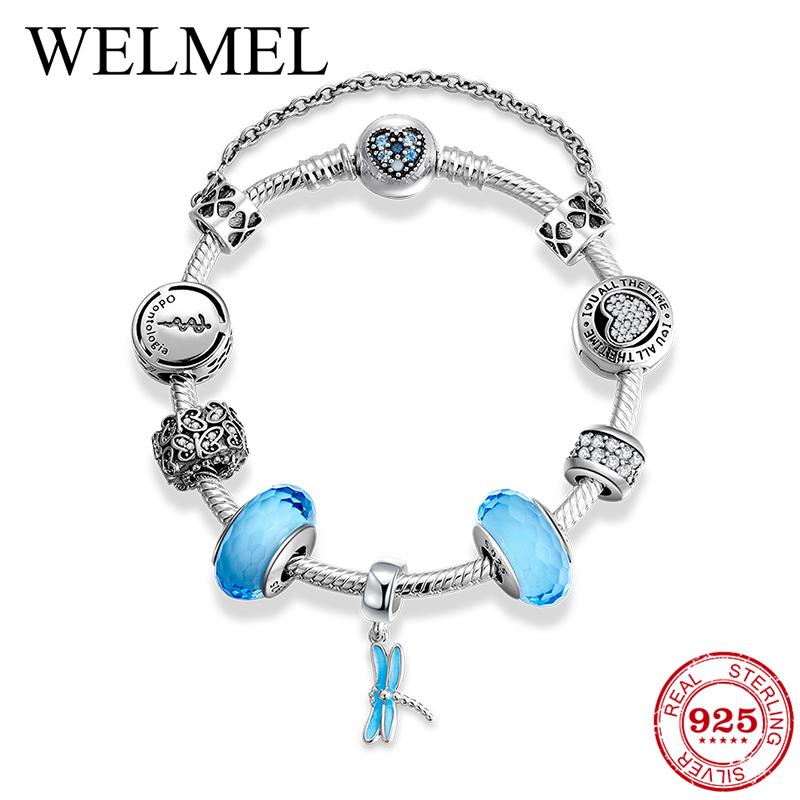 Hot 6pcs Papillon pendentif perle bricolage pour Argent 925 Collier Bracelet Bijoux