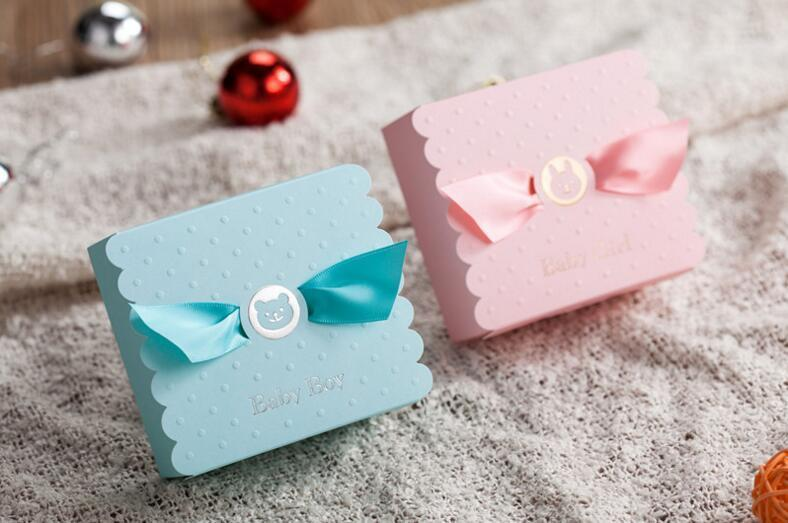 European Baby Boy Girl Party Angel Candy Boxes Baby Shower Favors Baby Birthday Party Sweet Box Chocolate Bag Box 3