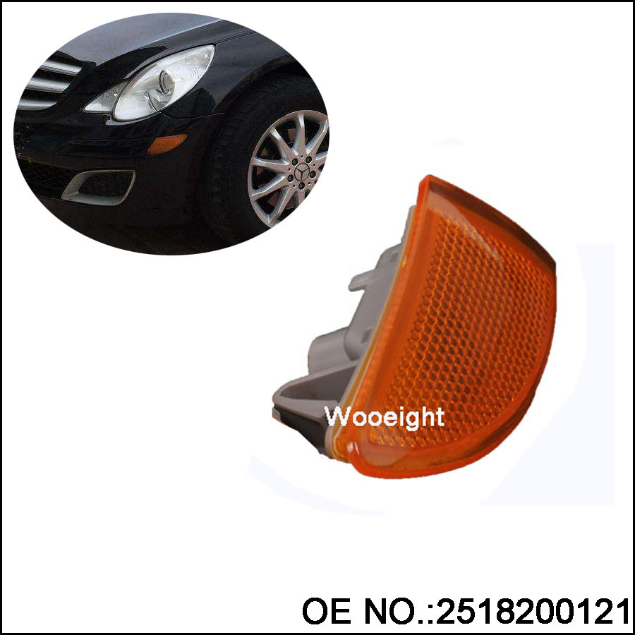 Wooeight 1Pc Front Bumper Left Turn Signal Indicator Light Lamp 2518200121 For Mercedes-Benz W251 R320 R350 R500 2007-2009 (6)