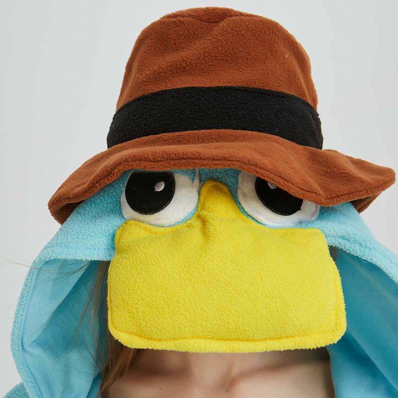 Unisex Perry the Platypus Costumes Onesies Monster Cosplay Pajamas Adult Pyjamas Animal Sleepwear Jumpsuit (1)