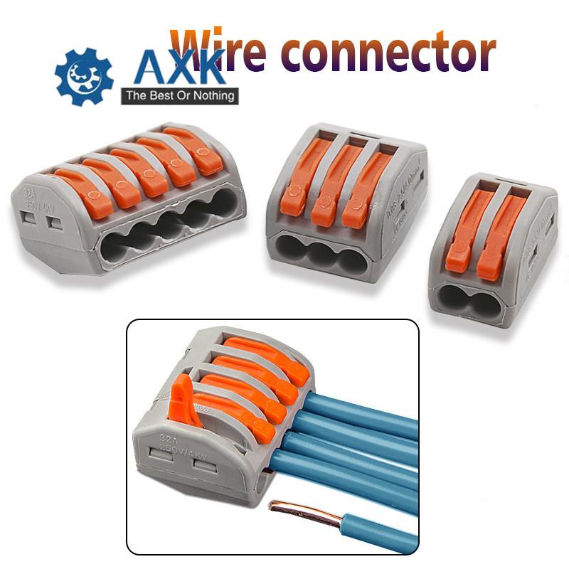 222-415 10 x WAGO 3-way LEVA Elettrici Connettori Filo Terminali del morsetto