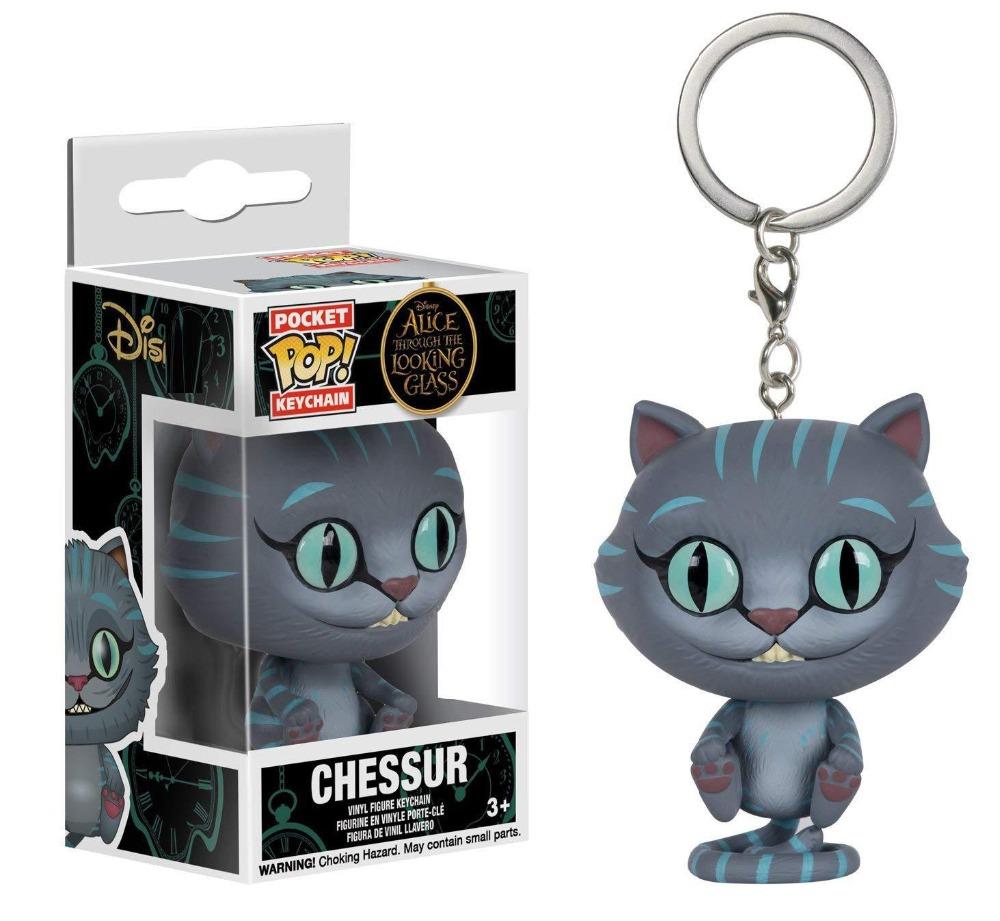 Alice Nos Pais Das Maravilhas Filme Online funko pop alice no país das maravilhas gato cheshire chessur keychain  bobble figura de acção colecionável modelos brinquedos para crianças