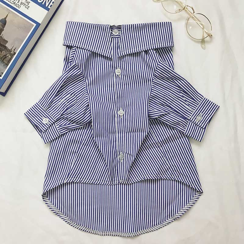 Classic Pet Dog Shirt High Quality Dog Clothes For Small Dogs Pets Clothing Striped Pug Pet Clothes Puppy Outfit French Bulldog Wholesale