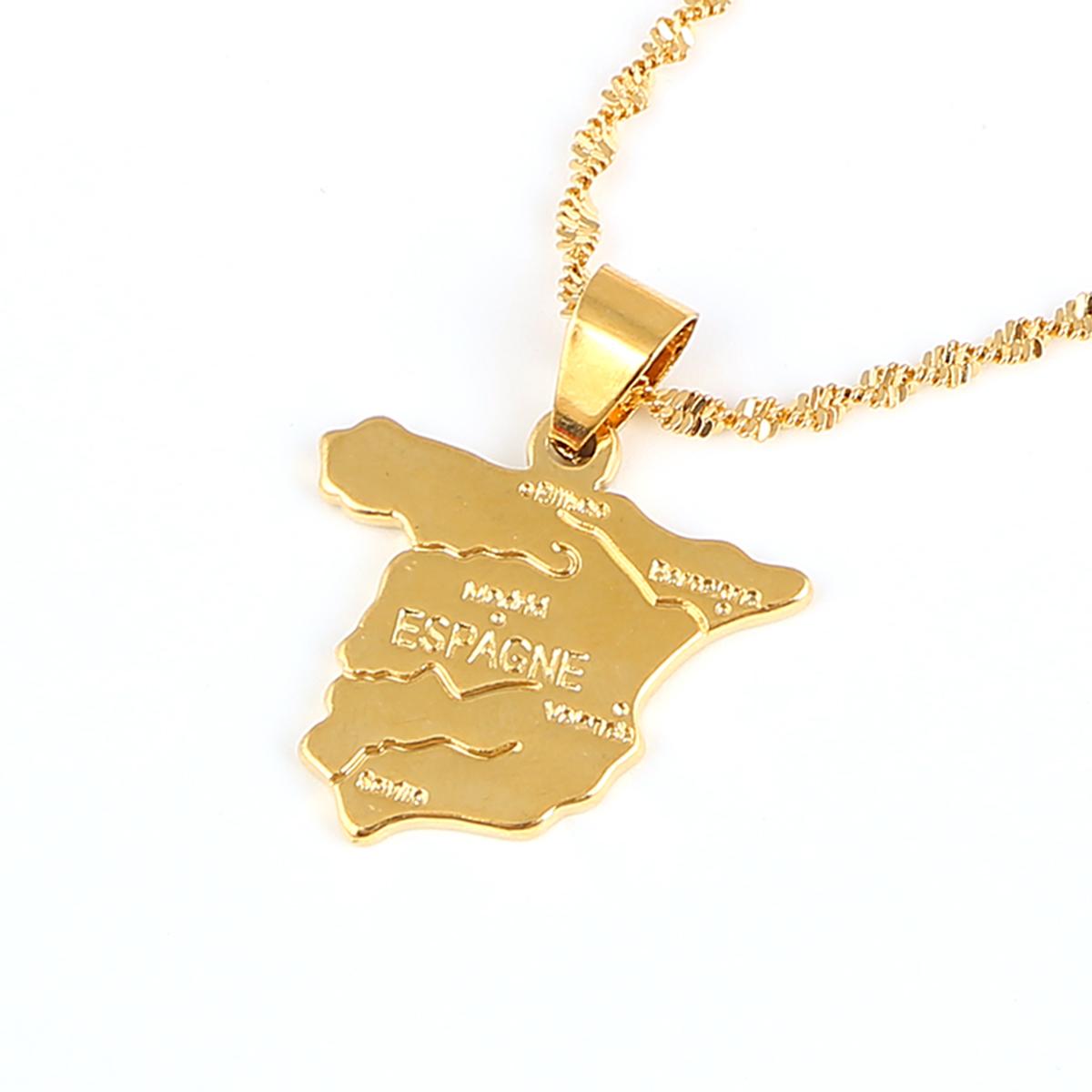 Chapado en Oro 18k Jamaica Mapa Colgante Cadena Collar Hip Hop de África //// vendedor del Reino Unido