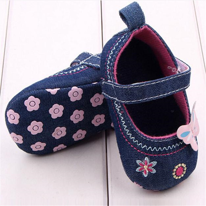 Fashion Baby Girl First Walker Butterfly Soft Sole Toddler Shoes NDA84L16 (2)