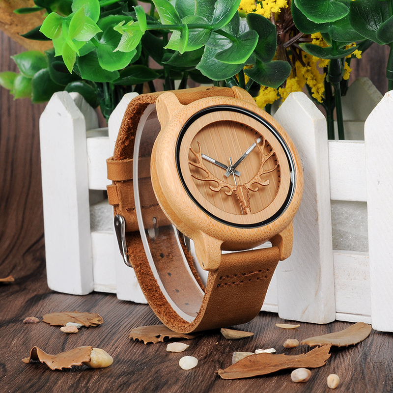 Bamboo wood watch women A27
