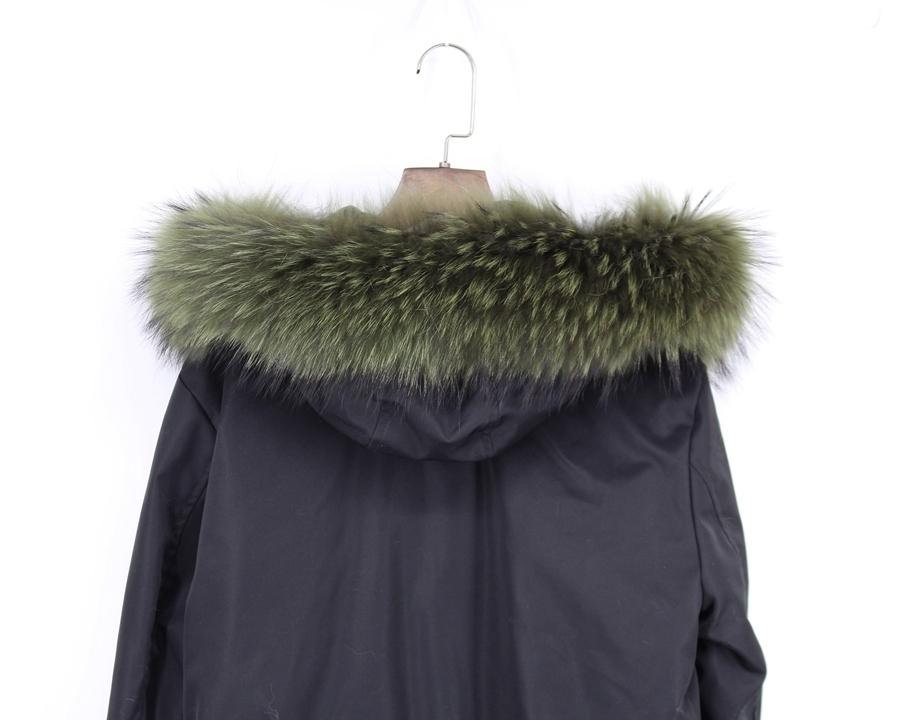 genuine raccoon fur hoody trim collar (4)