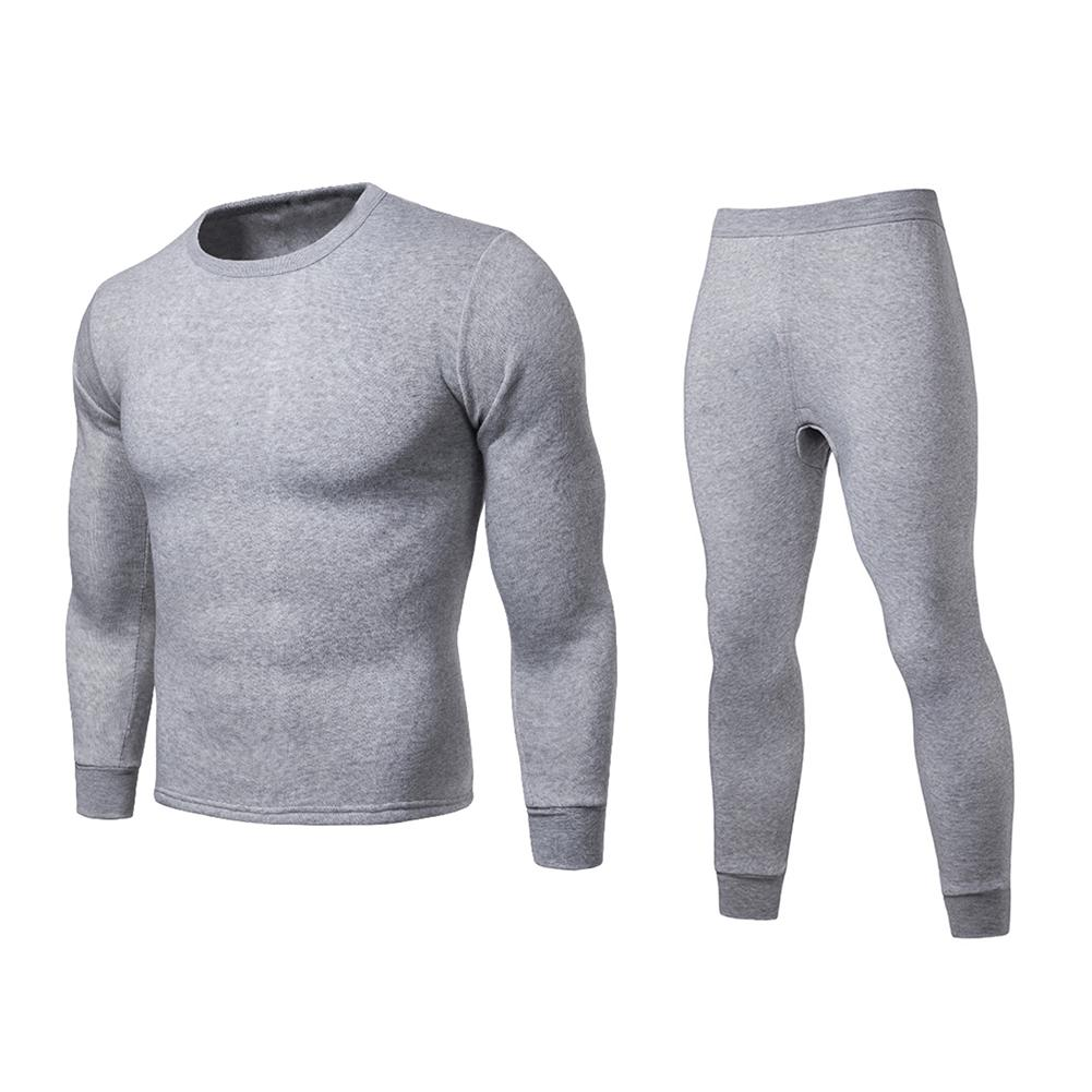 Comfortable Mens 2pc Thermal Underwear Set Long Johns Waffle Knit Top Bottom Color White Size XL