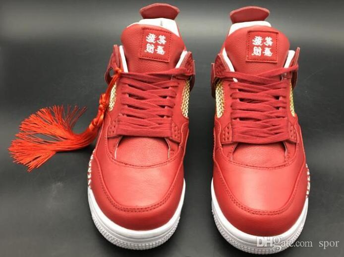 Top Quality 2018 New 4s LS x Denim Blue red Jump man size 8-13 Mens Basketball Shoes For Sale with box Athletic