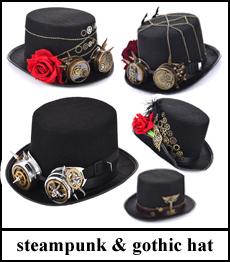 steampunk gothic hat