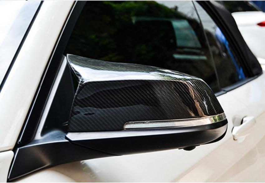 1 Paia di Plastica Specchietto Retrovisore Coperchio Auto Specchio Shell per 220i 328i 420i F20 F21 F22 F30 F32 F33 F36 X1 E84 Matte Black