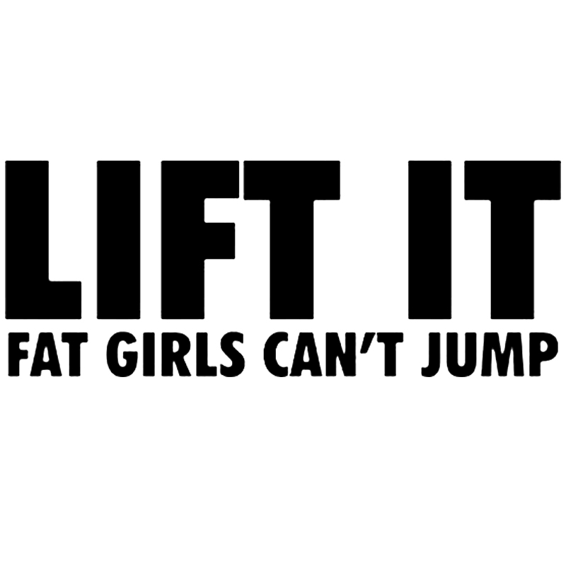 HIGH LIFT cause fat chicks can/'t jump vinyl decal//sticker truck window funny