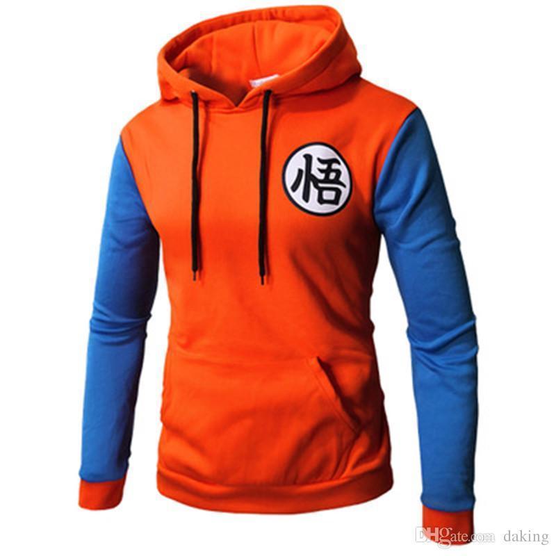 Japan Dragon Ball Men Sweatshirts 3d Cartoon Cosplay Print US Teens Hooded Hoody Unisex Cute Red Blue Patchwork Spring Casual Hoodies