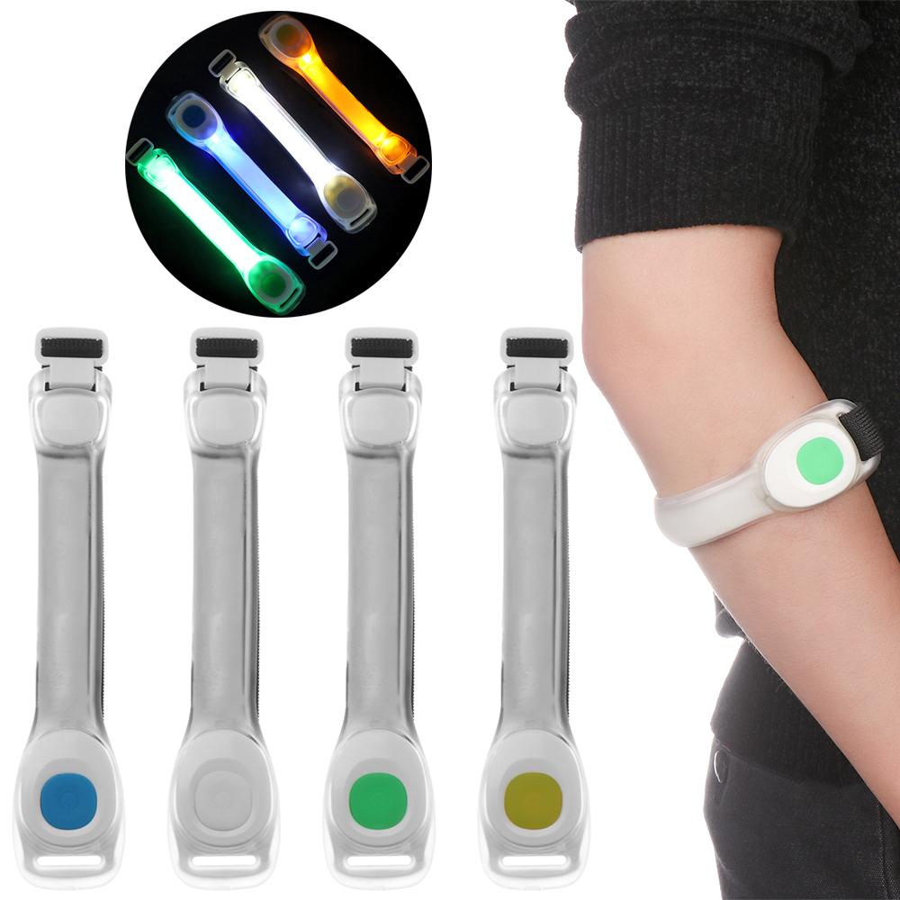 USB charging LED Night Run Light Safety Reflective Warning Light Armband Belt FE