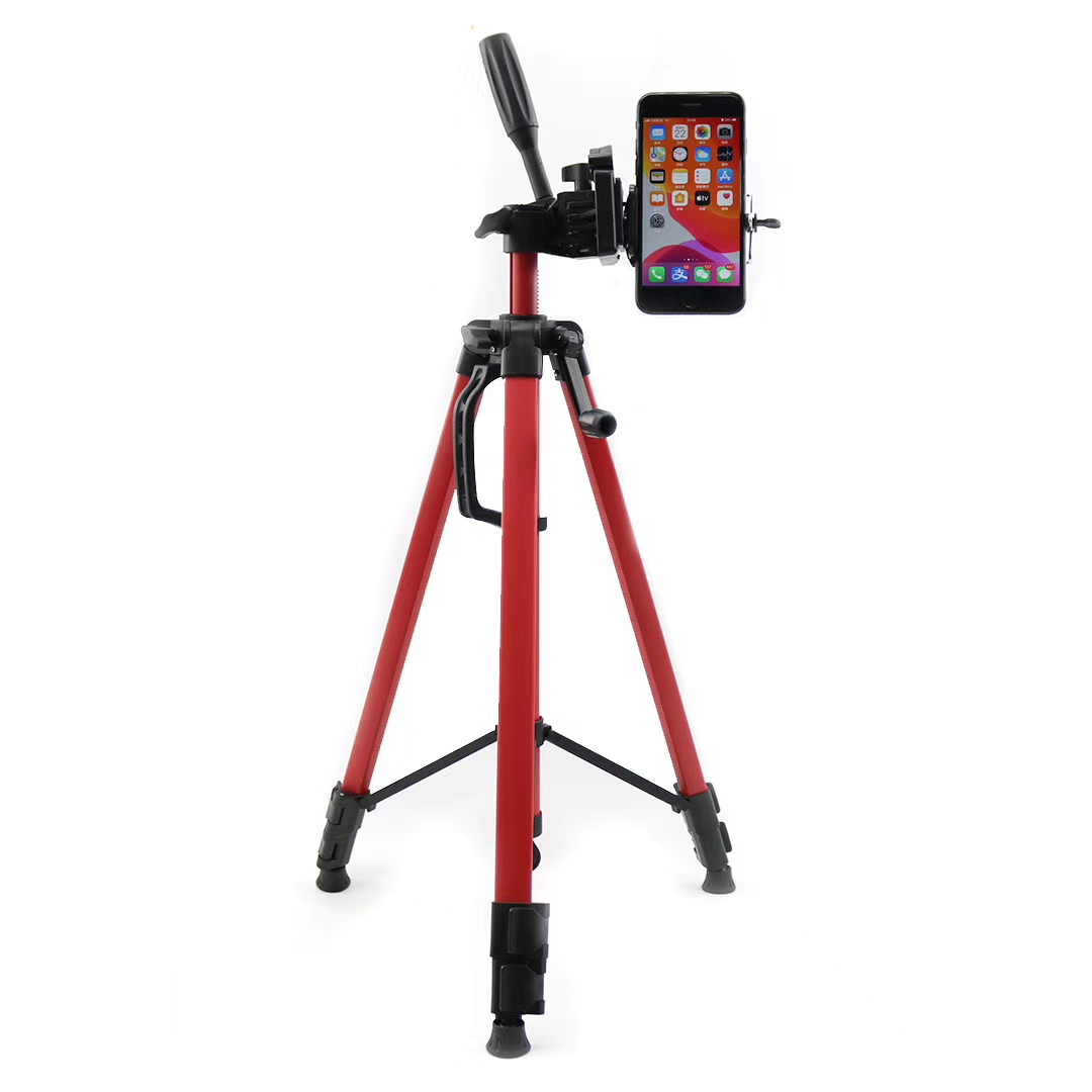 Camera Accessories Portable Phone Live Selfie 3366 Tripod Stand DV SLR Camera Self-Timer Full Light Bracket Silver Color : Yellow