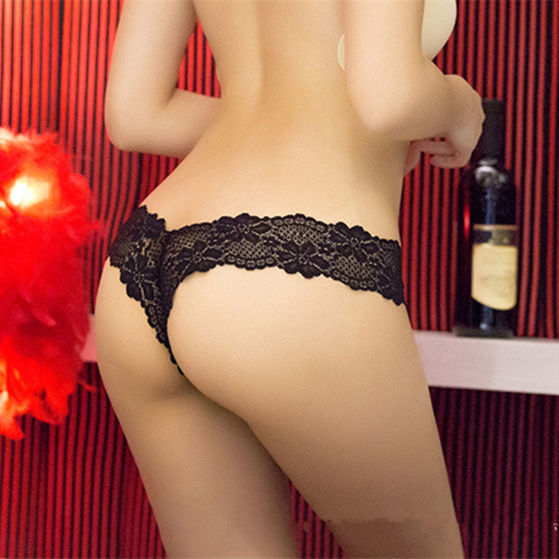 S-XL Newest Women G String Sexy Underwear Lace Briefs Panties Transparent Super Thin Hollow Thongs Plus Size (6)