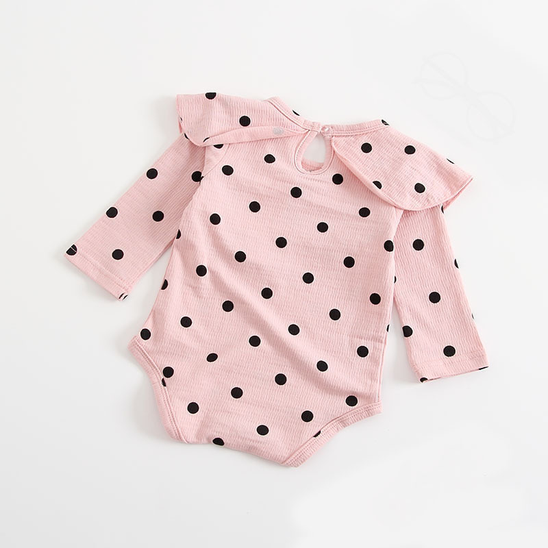 Newborn Baby Clothes 2018 New Autumn Spring Infant Princess Clothing Ruffles Collar Dot Outfit Infantil Roupa Bebe Girl Romper