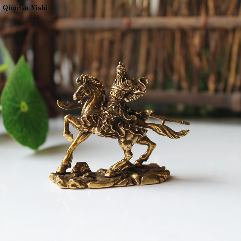 Chinese Taoism copper brass Deity Heaven Jade Emperor seat Dragon Chair Statue