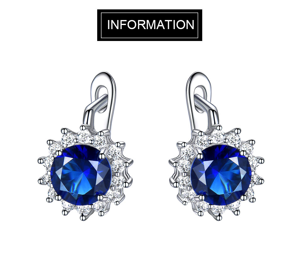 UMCHO Sapphire 925 sterling silver jewelry set for women S020S-1 (1)