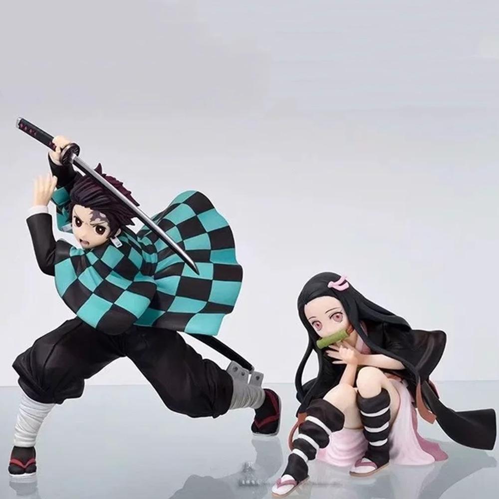 Kimetsu no Yaiba Anime Figure Demon Slayer Kamado Nezuko Tanjirou Figma Toy Ichiban Kuji Model PVC Doll Brinquedos Juguetes Gift