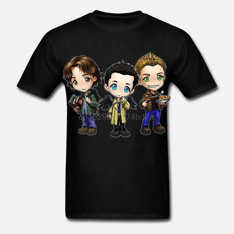 Dean Winchester Supernatural Eye of the Tiger Vintage Men/'s T Shirt Tee Noir