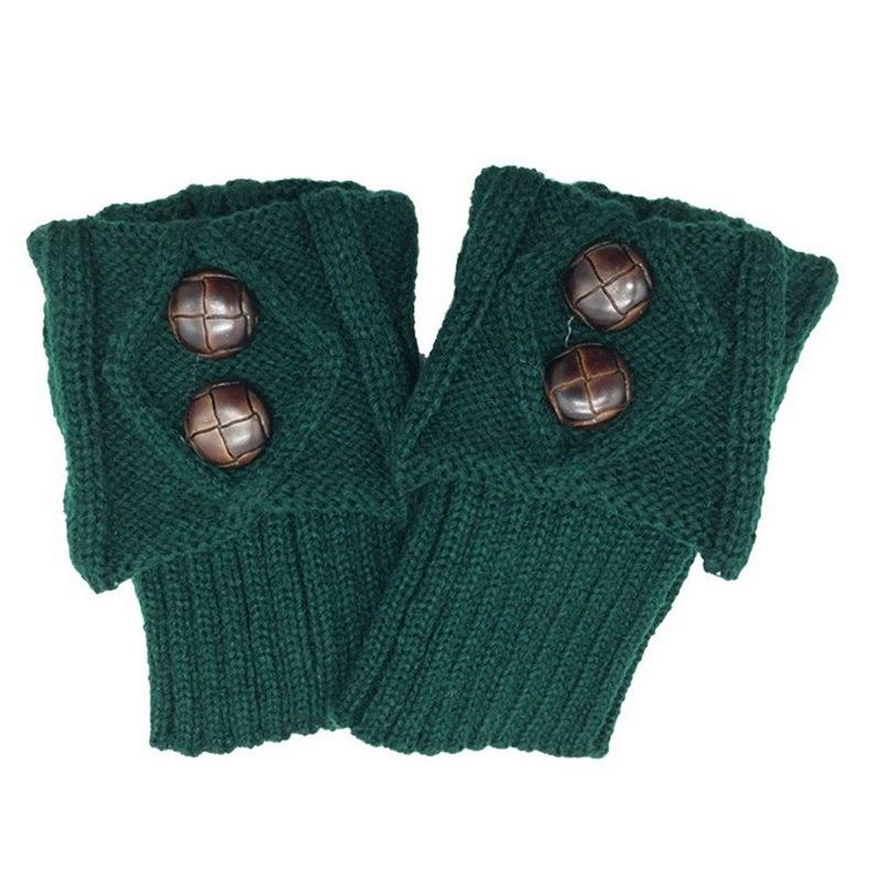 Mode Frauen Winter Kurze Beinlinge Casual Taste Häkelarbeitknit Boot Socken Manschetten Topper Manschetten Großhandel Calcetines Mujer