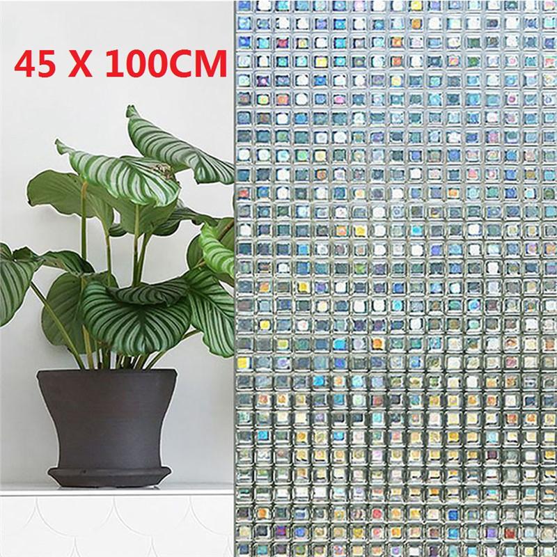 45x100cm givré Privacy verre porte fenêtre décalcomanie film autocollant