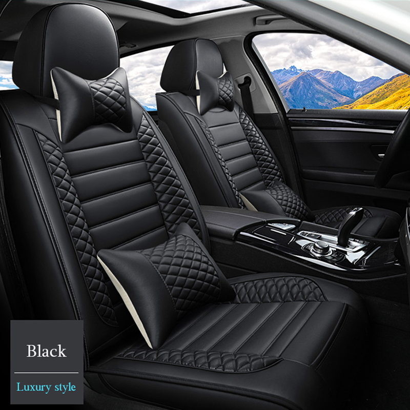 08- 1+1 Quilted Racing Black Seat Covers For VW SCIROCCO GT