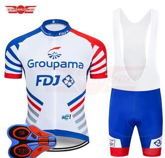 2019 GROUPAMA FDJ TEAM CYCLING JERSEY 9D bike shorts Ropa Ciclismo MENS summer
