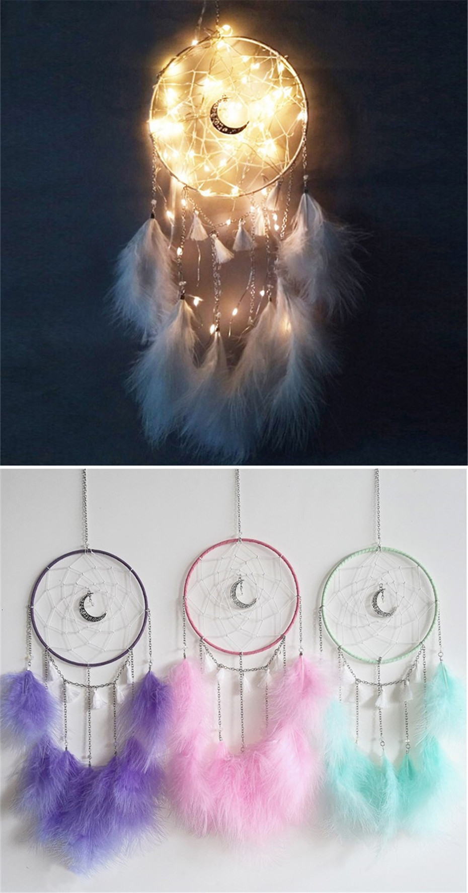 dreamcatcher bedroom decoration window decors hung over or near your bed white