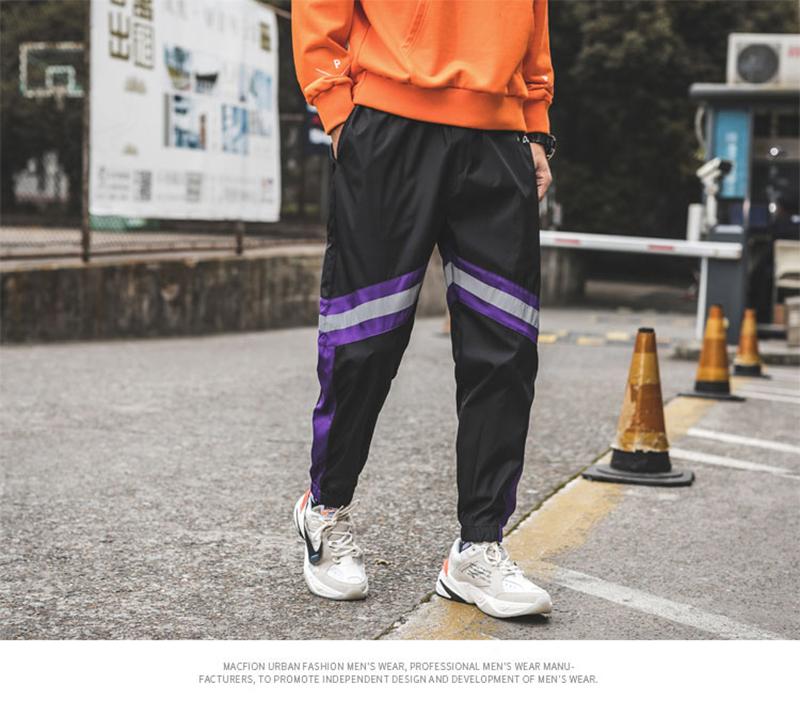 Loose Hip Hop Cargo Pants Men Camouflage Patchwork Harem Mens Trousers Streetwear (47)