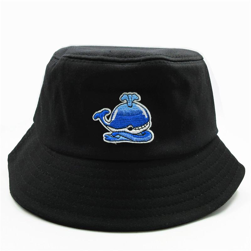 Cartoon Ocean Whale Bucket Sun Hat Summer Fisherman Cap for Men /& Women Outdoors