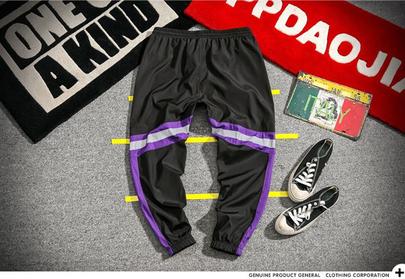 Loose Hip Hop Cargo Pants Men Camouflage Patchwork Harem Mens Trousers Streetwear (31)