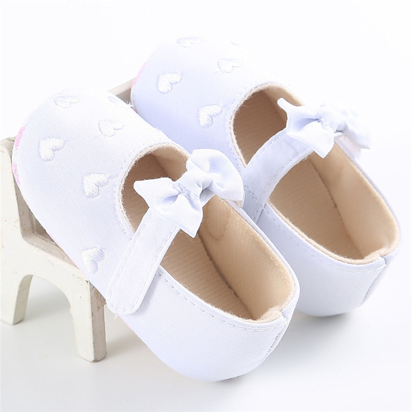 Summer Baby Girls Shoes Toddler Kids Baby Girl Canvas Solid Bow-knot Soft Sole Anti-slip Shoes Baby First Walker Shoes M8Y11 (14)