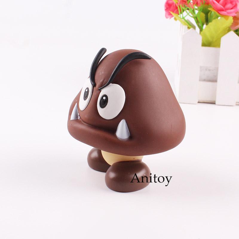 Super Mario Bro Abbildung Goomba Action Figure PVC Sammlerspielzeug für Kinder Geschenk 8 cm