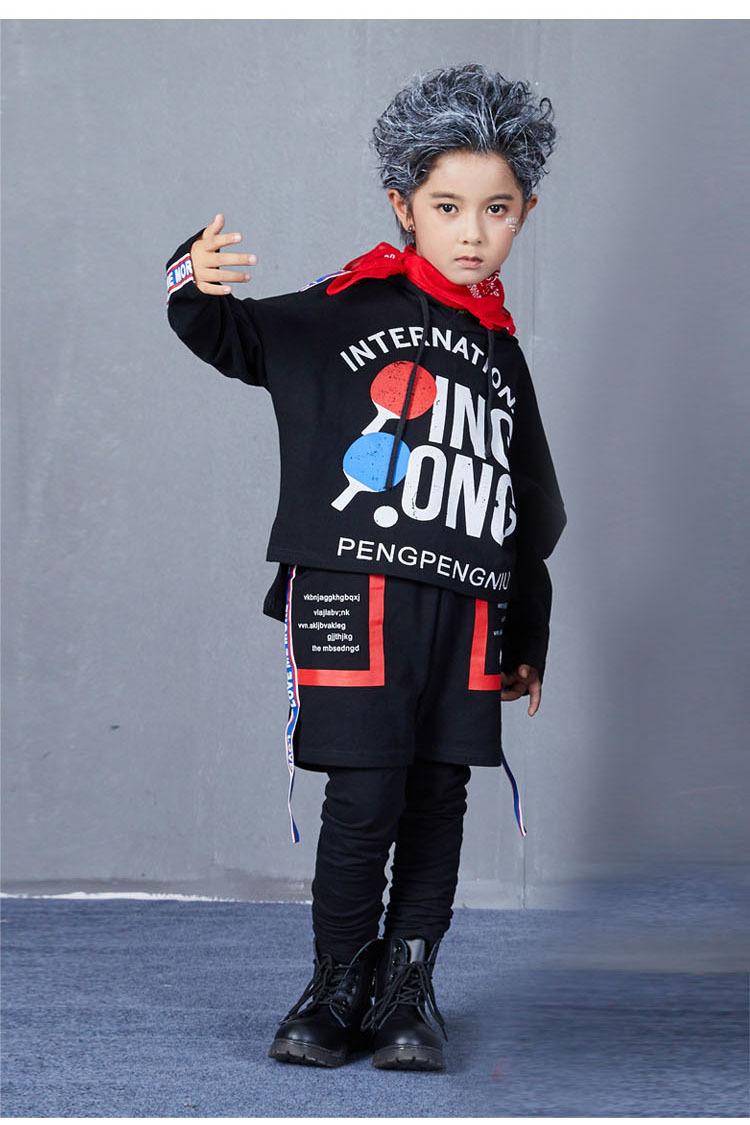 Autumn Hip Hop Jazz Dance Costumes for Kids Street Dance Clothes Sets Boys Girls High Fashion Street Wear Size 6 8 10 12 14 17 T (16)