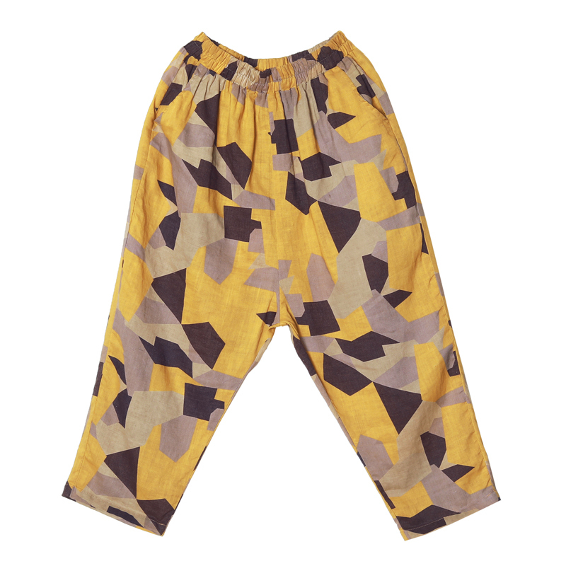 Plus Size 4XL Cotton Linen Harem Pants Trousers Women Vintage Print Slim Casual Elastic High Waist Cargo Radish Pants Women 20199