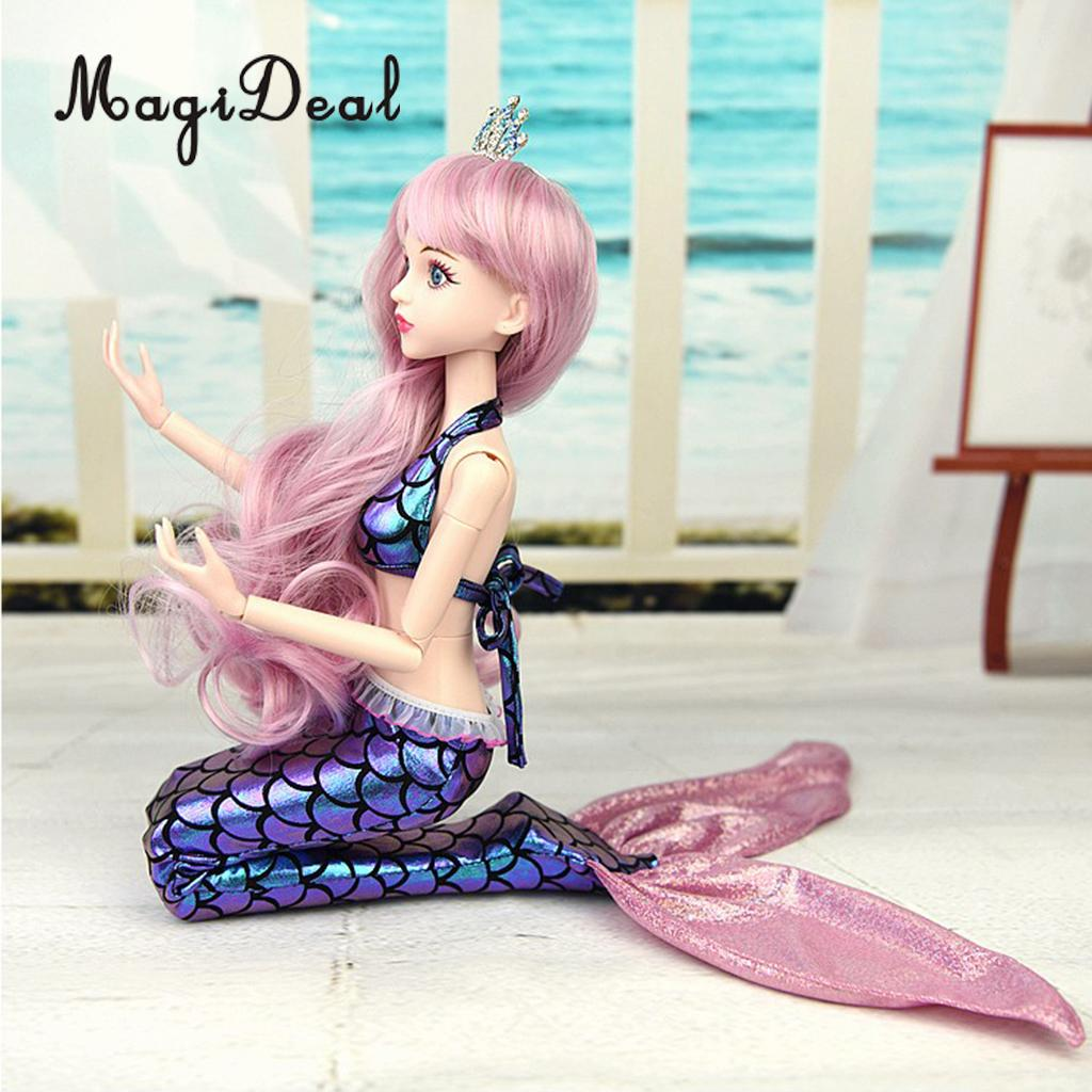 Popular 1/4 Doll Mermaid Dress Fashion Skirt Evening Party Gown for BJD Doll Accessories Girl Gift
