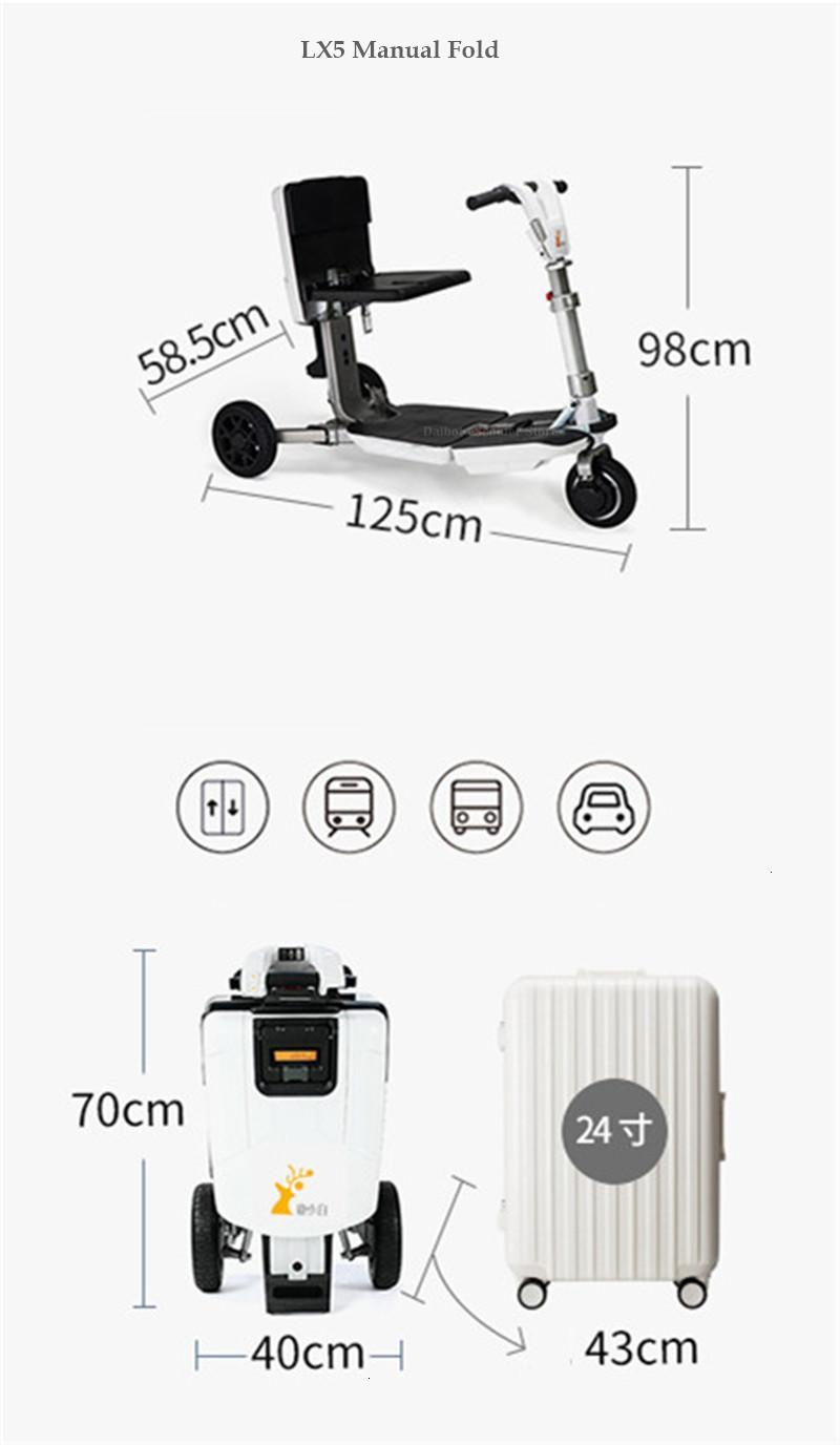 Disability Electric Scooter 3 Wheel Electric Scooter For Elderly Disabled Folding Electric Wheelchair (22)