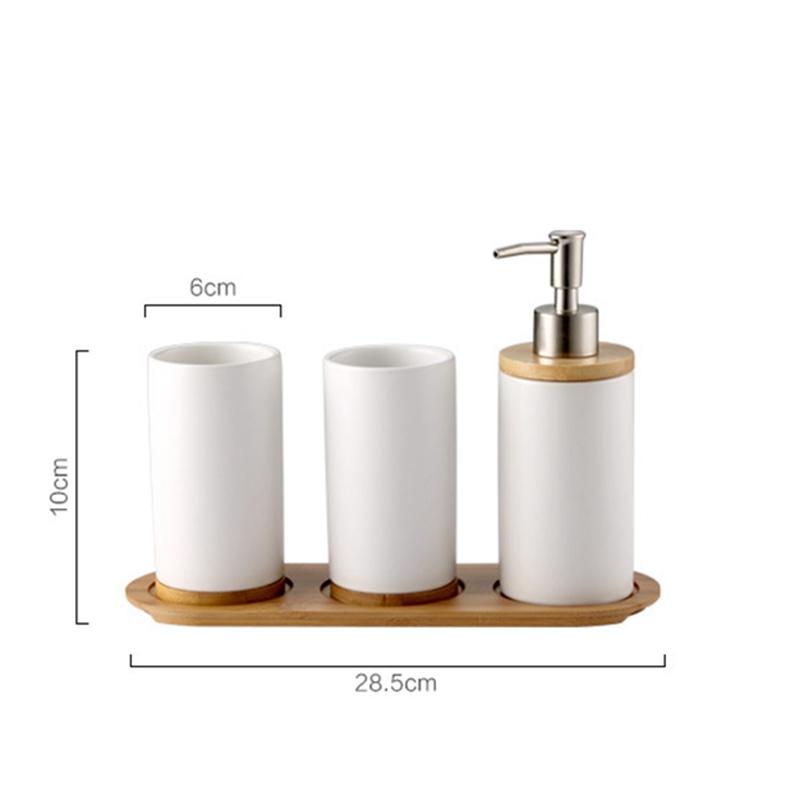 bain ensembles Hot 4Pc Plastique Salle de bains Accessoires Gobelet Brosse à dents titulaire porte-savon
