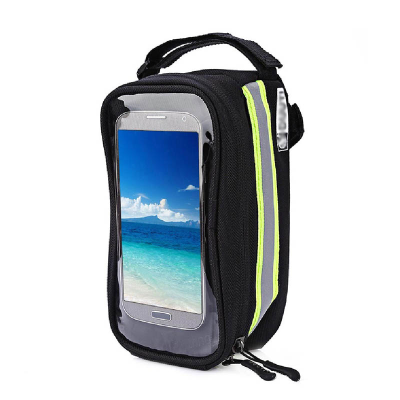 Bicycle Phone Bag Case Touch Screen Waterproof Bike Frame Front Tube Storage Bag Pouch Case for iPhone Samsung 3.5-6 inch Phones (19)