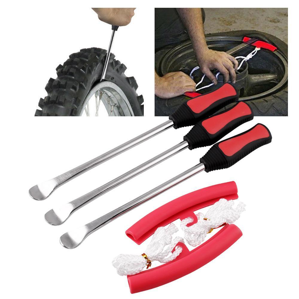 Car Motorcycle Bicycle Tire Tyre Repair Root Crowbar Tool Steel Spoon Core Tool