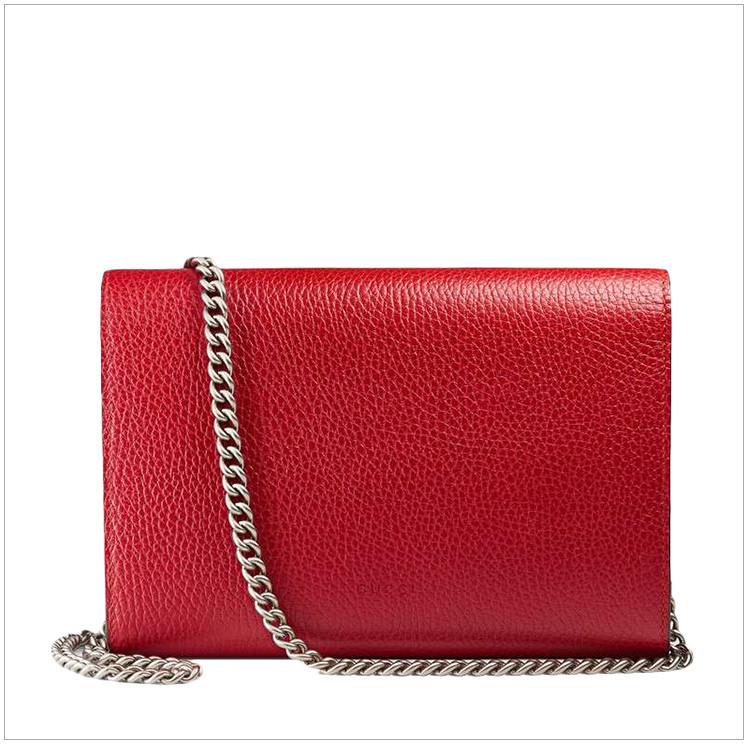Women's Red Leather Fashion Bacchus Shoulder Messenger Bag