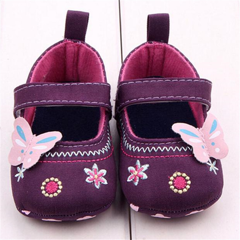 Fashion Baby Girl First Walker Butterfly Soft Sole Toddler Shoes NDA84L16 (5)
